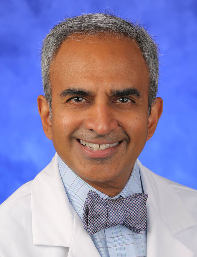 Krish Sathian, MBBS, PhD, is Chair of the Department of Neurology at Penn State College of Medicine. He is pictured in a professional head-and-shoulders photo.