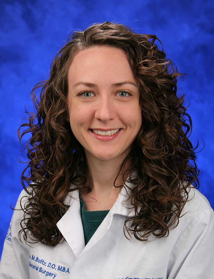 A head-and-shoulders professional photo of Dr. Melissa Boltz